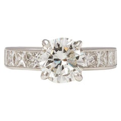 Platinum Round Brilliant Cut Certified Diamond Engagement Ring