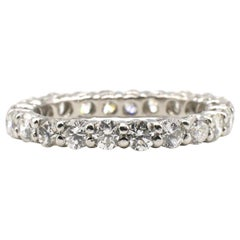 Platinum Round Brilliant Cut Diamond Eternity Band Ring 2.5 Carat