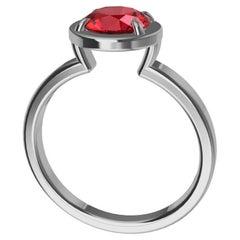 Platinum Ruby Fashion Engagement Ring