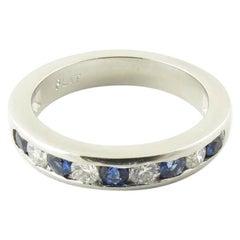 Hochzeitsbandring aus Platin mit Saphiren und Diamanten