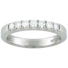 Platinum Seven-Stone Diamond Half Eternity Ring