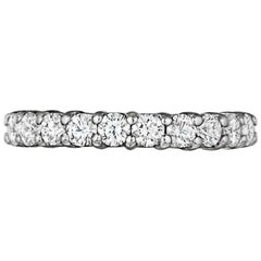 Platinum Shared Prong Eternity 1.83 Carat Conflict Free Diamonds with Gallery