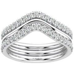 Platinum Shila Petite Stackable Diamond Ring '2/5 Carat'