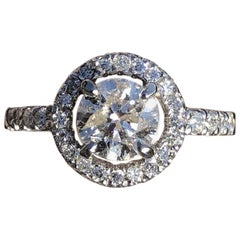 Platinum Solitaire Diamond Ring 1.38 Carat 5.4g