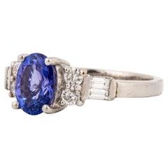 Platinum Tanzanite Diamond Ring