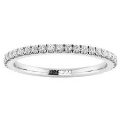Platinum Thin Diamonds Pavé Stackable Band Ring