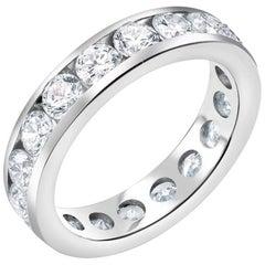 Platinum Three Carat Diamond Eternity Wedding Band