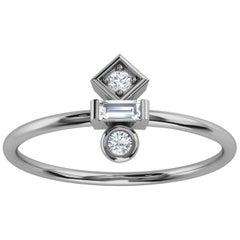 Platinum Tifane Minimalist Organic Design Diamond Ring '1/6 Ct. Tw'