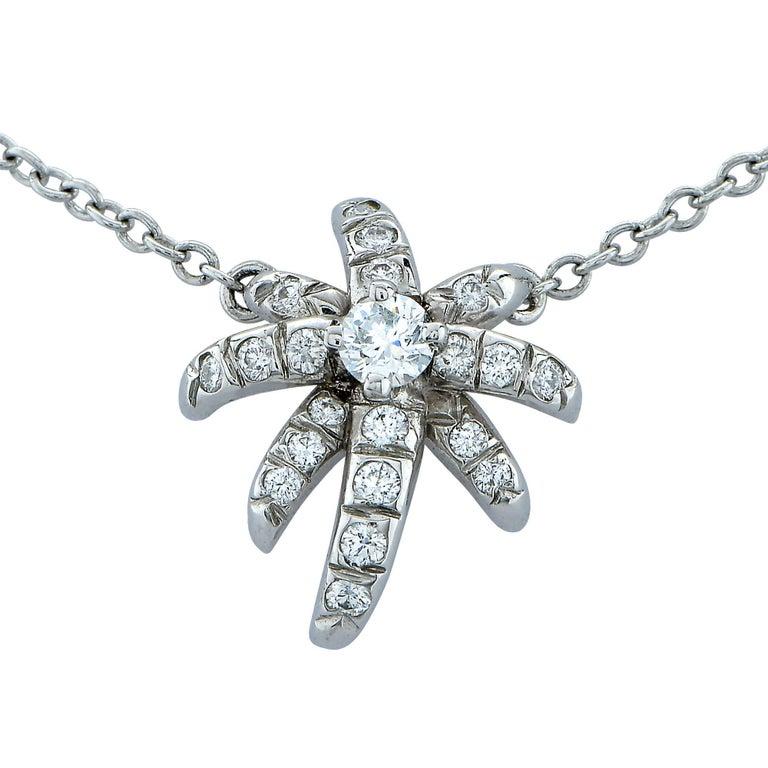 Platinum Tiffany & Co. Fireworks Diamond Necklace