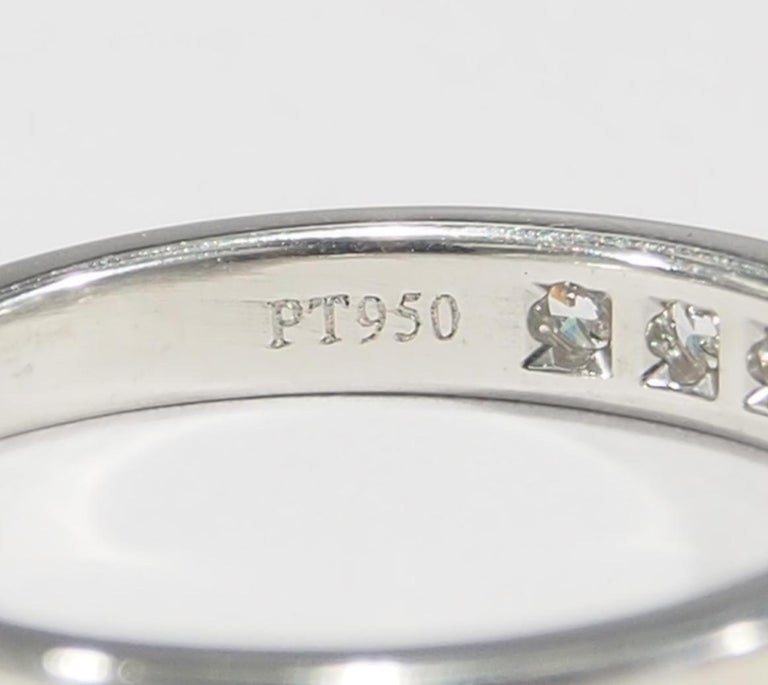 Women's or Men's Platinum Tiffany & Co. Ring White 0.54 Carat For Sale