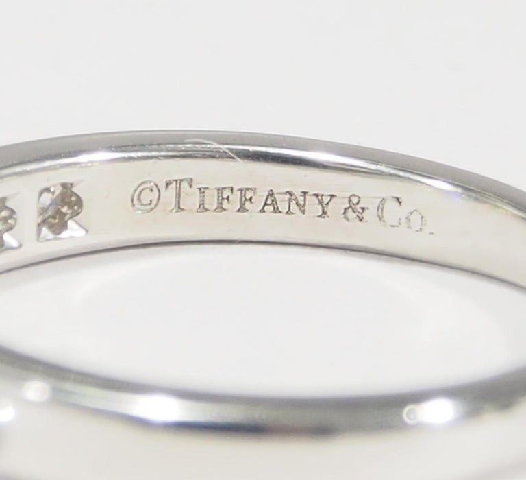 Platinum Tiffany & Co. Ring White 0.54 Carat For Sale 1