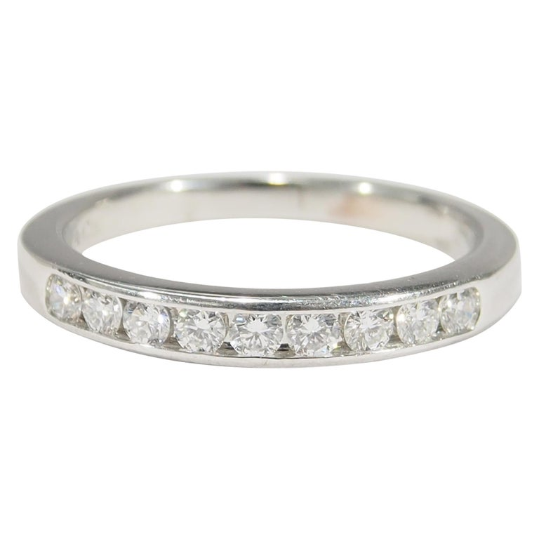 Platinum Tiffany & Co. Ring White 0.54 Carat For Sale