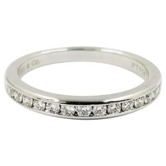 Platinum Tiffany & Co. Channel Set Round Diamond Band Ring