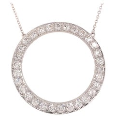 Platinum Tiffany & Co. Diamond Circle Pendant