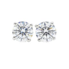 Platinum Tiffany & Co. Diamond Stud Earrings