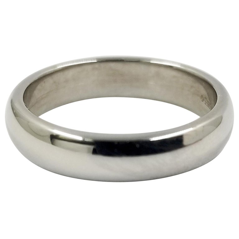 Platinum Tiffany & Co. Half Round Wedding Band For Sale
