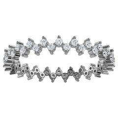 Platinum Toni Organic Design Diamond Eternity Ring '2/5 Ct. tw'