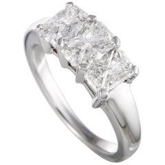 Platinum Trillion Cut Diamond Ring
