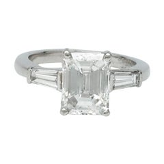 Van Cleef & Arpels engagement ring, 2.01 Carat Emerald-Cut Diamond G VS2.