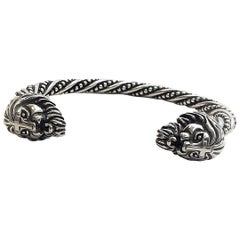Platinum Vikings Northmen Saga Men Bangle Jewelry