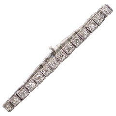 Platinum Vintage Art Deco Diamond Bracelet