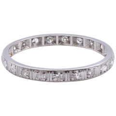 Platinum Vintage Diamond Eternity Band
