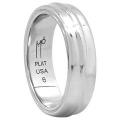 "FARBOD Platinum Wedding Ring ""Bold"" 'Unisex'"