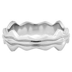 """FARBOD Platinum Wedding Ring """"Majestic"""" 'Unisex'"""
