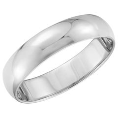 Platinum Wide Plain Wedding Band Ring 11 Grams, Estate