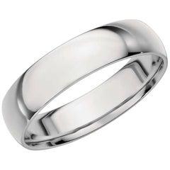 Platinum Wide Plain Wedding Band Ring 8 Grams, Estate