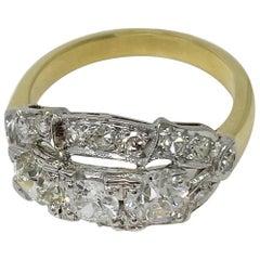 Platinum Yellow Gold 1.45 Carat Diamond Ring