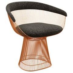 Platner Arm Chair in Diva/Coal Upholstery & Rose Gold Base