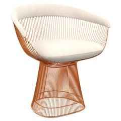 Platner Arm Chair in Diva/Moon Upholstery & Rose Gold Base