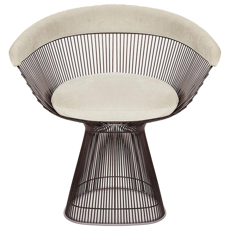Mystic Green Ultra Suede Platner Armchair Knoll For Sale At 1stdibs