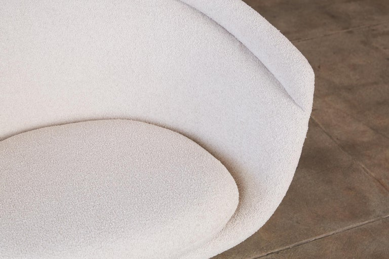 Platner Collection for Knoll Lounge Chair in White Bouclé 4