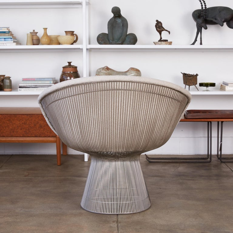 Mid-20th Century Platner Collection for Knoll Lounge Chair in White Bouclé