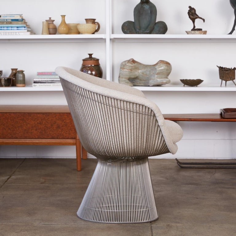 Platner Collection for Knoll Lounge Chair in White Bouclé 1