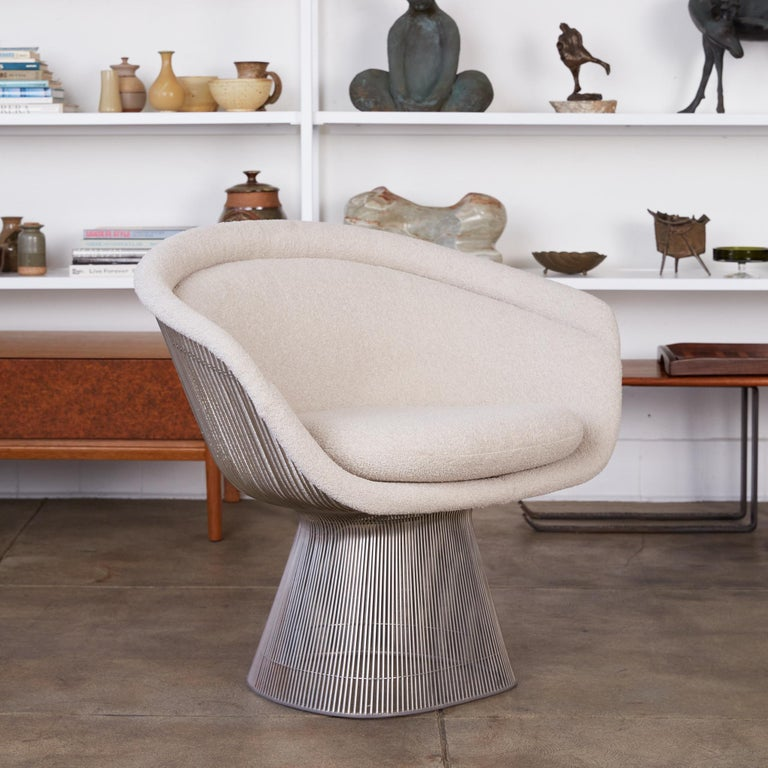 Platner Collection for Knoll Lounge Chair in White Bouclé 2