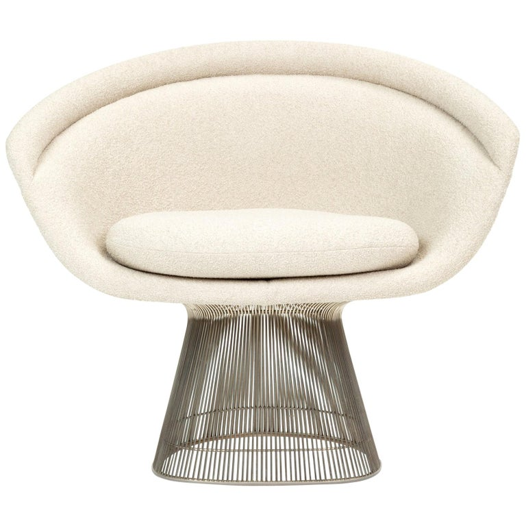 Miraculous Platner Collection For Knoll Lounge Chair In White Boucle Gamerscity Chair Design For Home Gamerscityorg