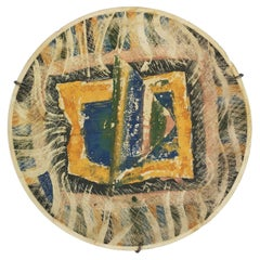 """""""Plato IV"""" Hand Painted Ceramic Wall Plate by Rosario Guillermo, 1985, Mexico"""