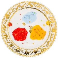 Platter Gold Hand Painted Coralla Maiuri Modern New Tableware