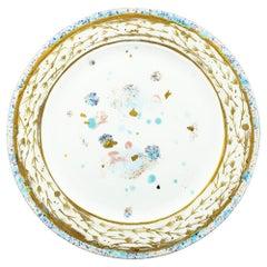 Platter Gold Hand Painted Plate Coralla Maiuri Modern New Tableware