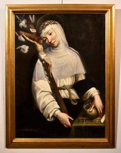 Saint Catherine Paint Oil on canvas Old master 16th Century Italian Florence Art