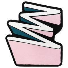 Playful 4 Colors ZigZag Rug from Graffiti Collection by Paulo Kobylka, Medium