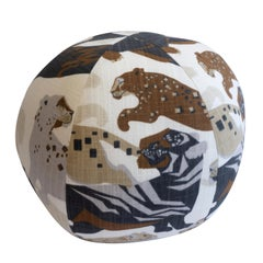 Playful Big Cat Ball Pillow