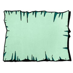 Playful Colorful Crumpled Rug from Graffiti Collection by Paulo Kobylka, Large