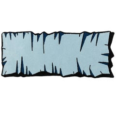 Playful Colorful Crumpled Runner Rug from Graffiti Collection by Paulo Kobylka