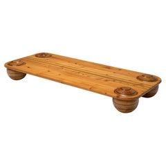 Playful Italian Coffee Table in Pine