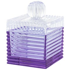 Playful Large Purple/Clear Box