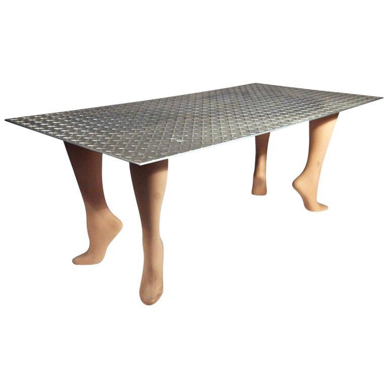 "Playful Pop Art ""Footsie"" Coffee Table For Sale"